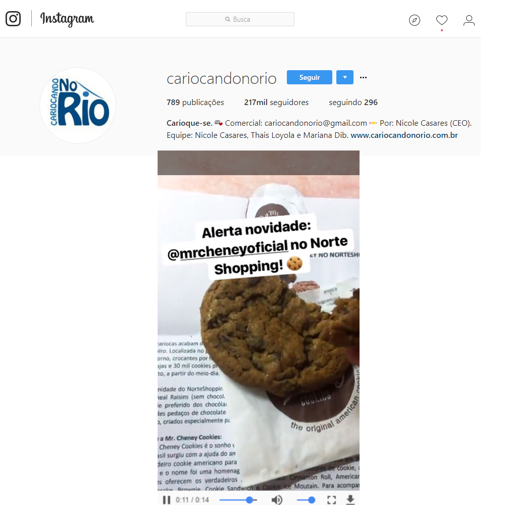 Instagram Cariocando no Rio 2