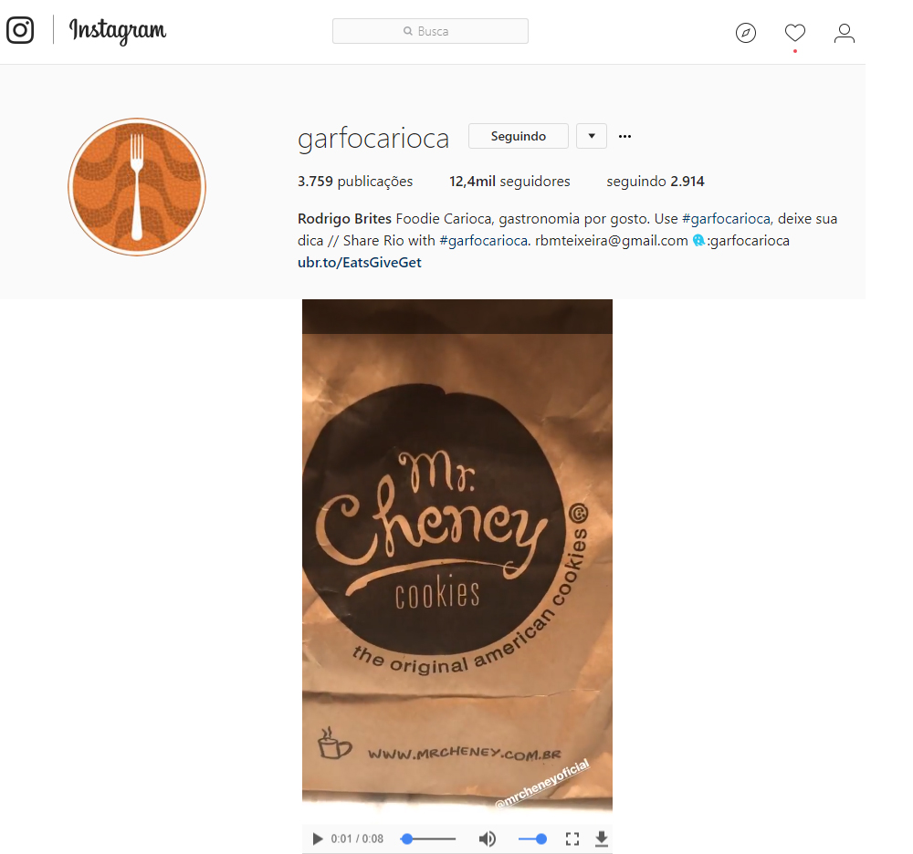 Instagram Garfo Carioca 2